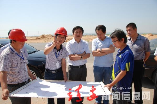 县长李永奇调研新区建设