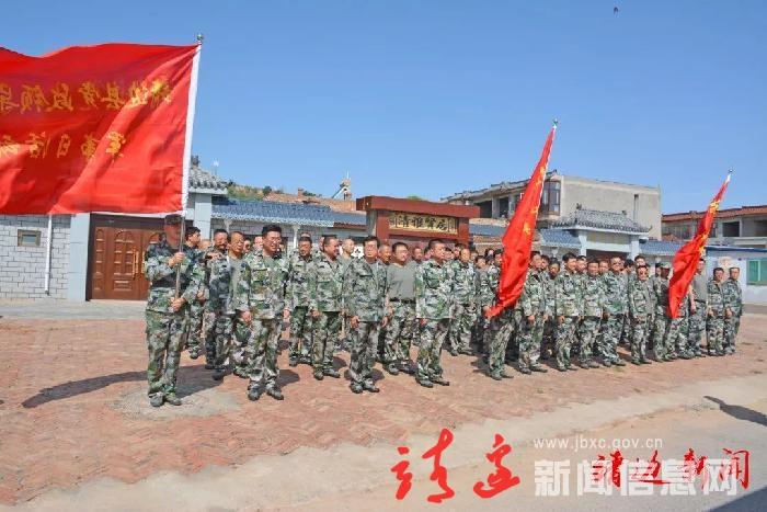 我縣開展全縣領導干部軍事日活動