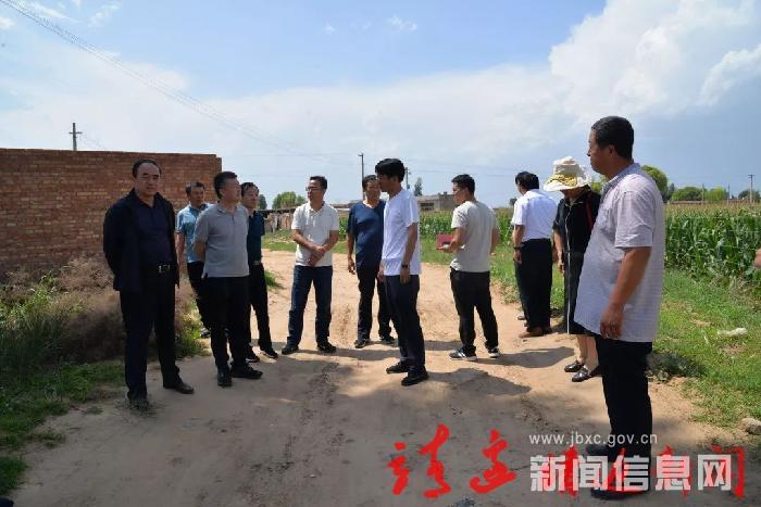 劉波調研我縣資源規劃局重點項目建設情況