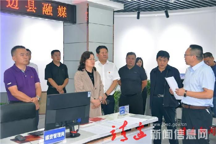 贺湘如检查县融媒体建设情况